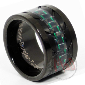 Burgler Black tungsten rings